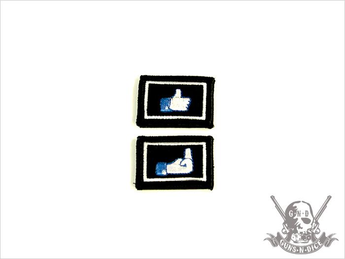 ミリタリーパッチ(ワッペン)「LIKE DISLIKE set」