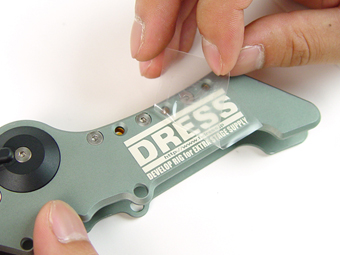 DRESSロゴステッカーSS 反射タイプ