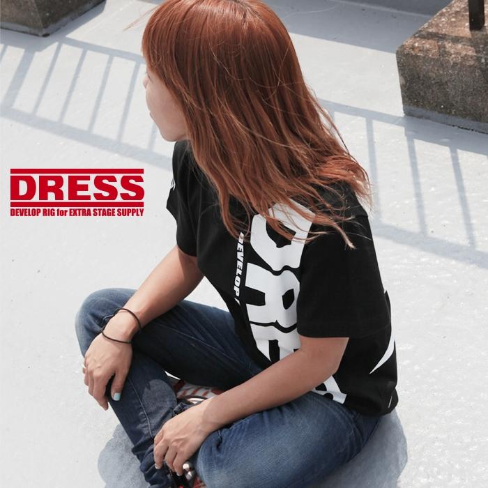 DRESS Tシャツ DRESSロゴVer. ブラック/ホワイト