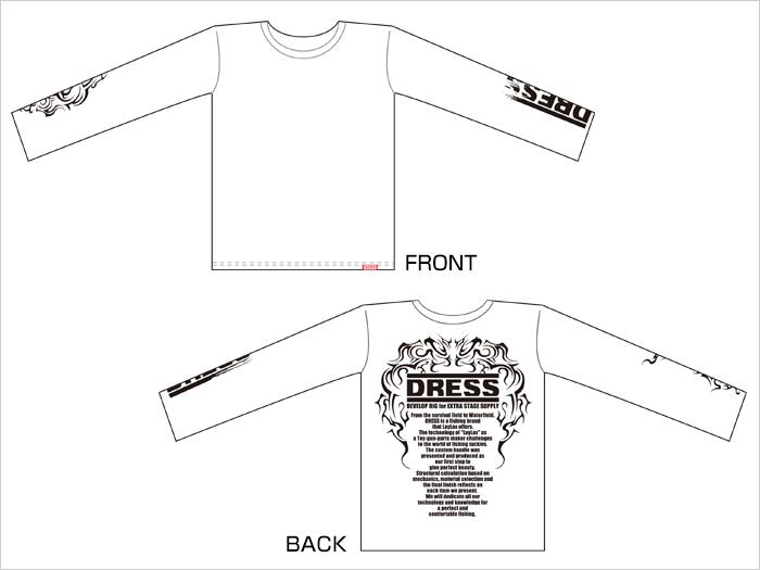 DRESS Tシャツ<長袖>ホワイト トライバルVer.